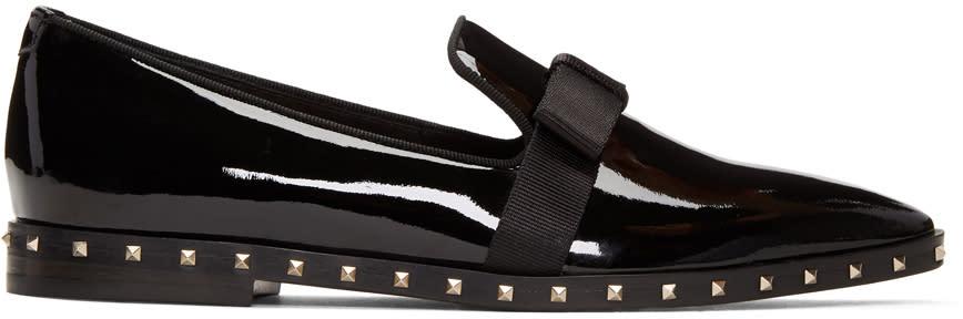 ValentinoBlack Valentino Garavani Patent Rockstud Loafers