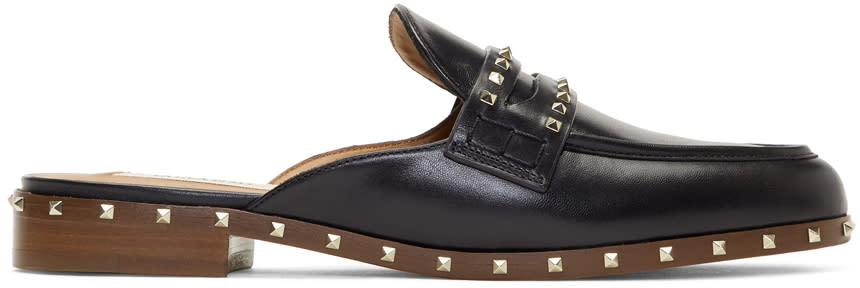 ValentinoBlack Valentino Garavani Rockstud Loafers