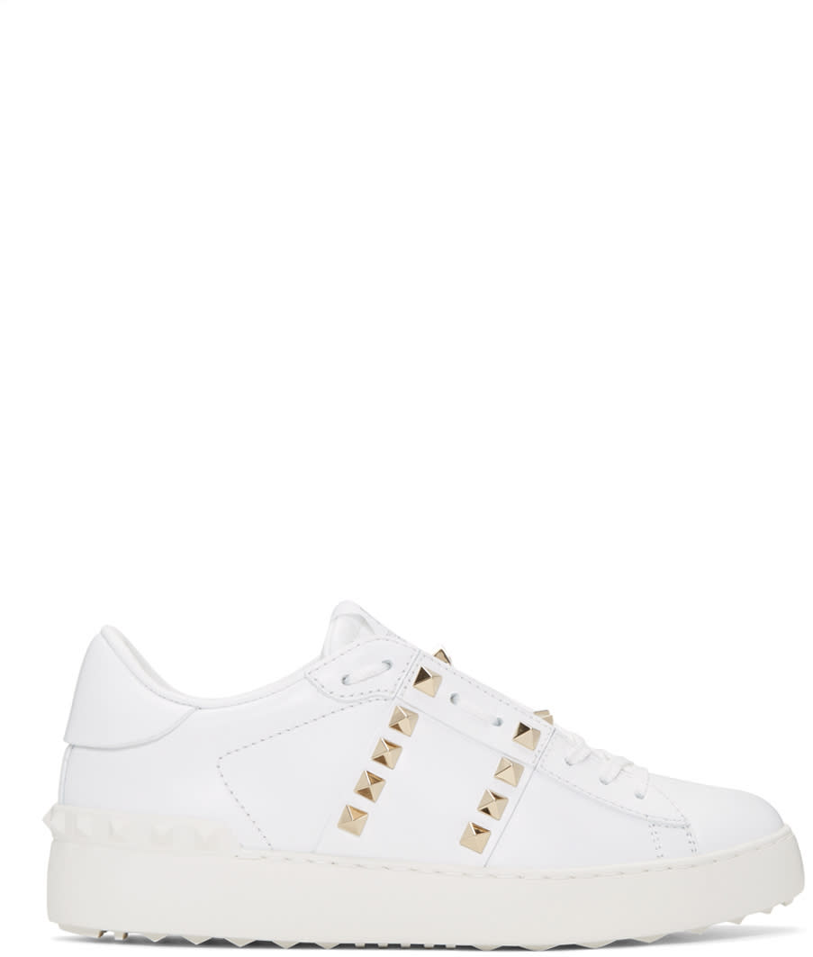 Valentino White rockstud Untitled 11 Open Sneakers