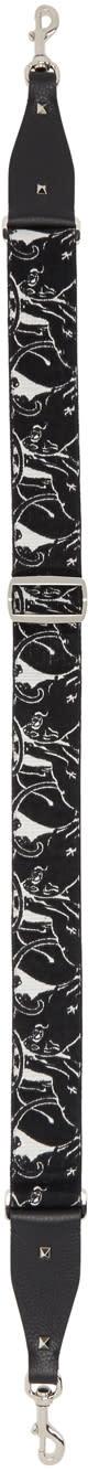 Valentino Black and Ivory Panther Guitar Shoulder Strap