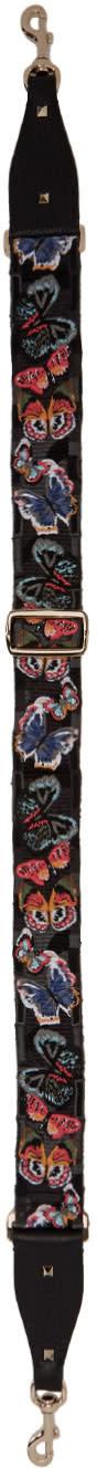 Valentino Black Butterfly Guitar Shoulder Strap