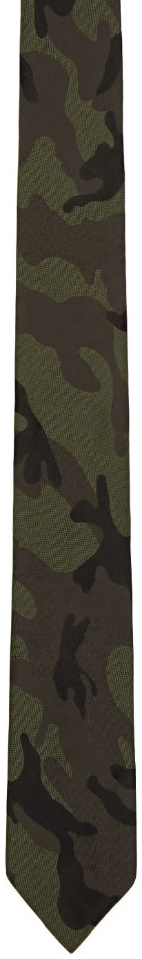 Valentino Green Camo Tie