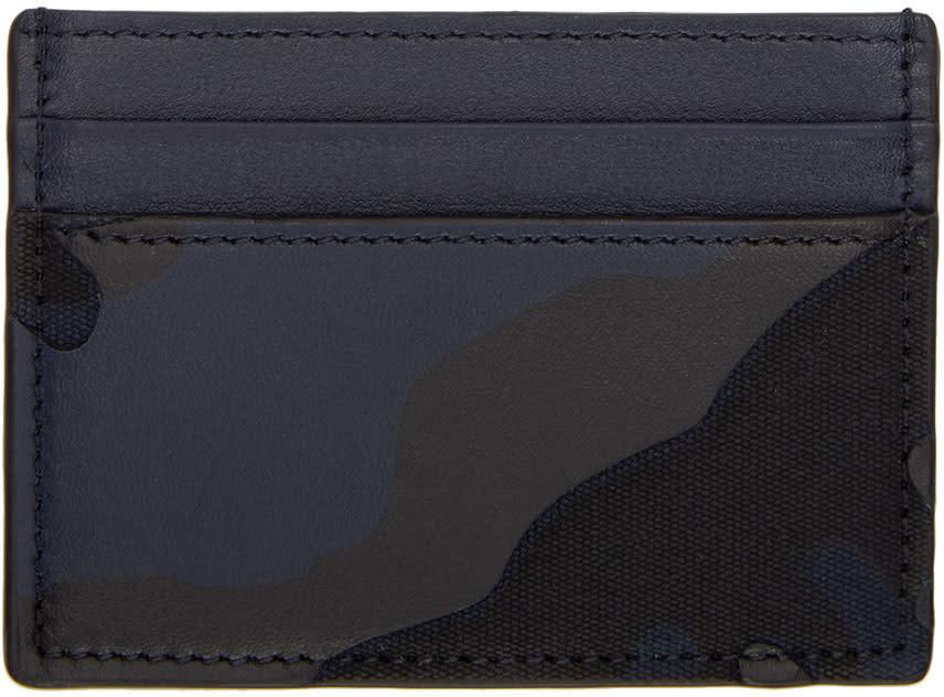 Valentino Navy Camo Card Holder