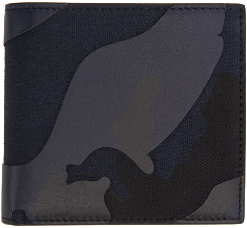 Valentino Blue Camo Wallet