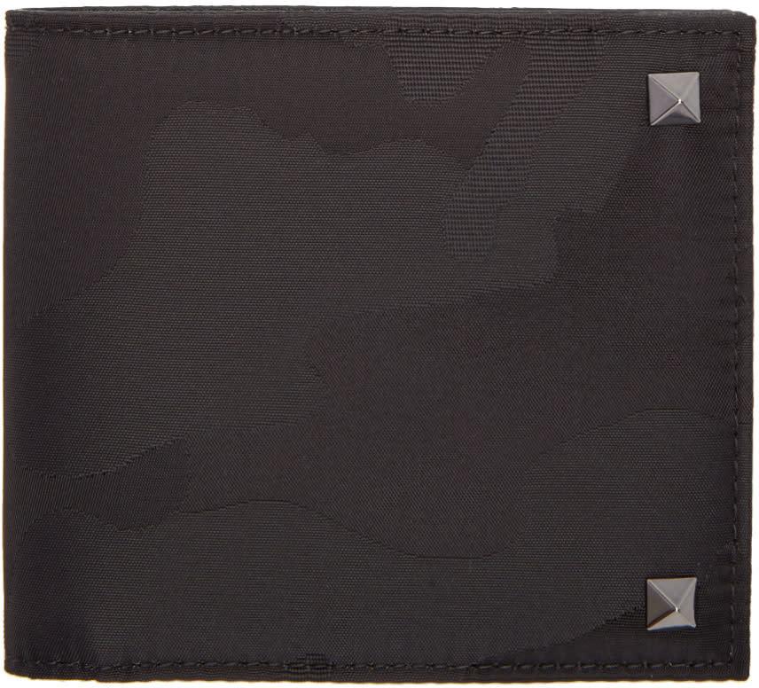 Valentino Black Camo Rockstud Wallet