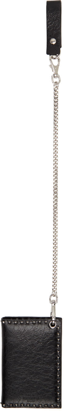 Valentino Black Rockstud Chain Wallet