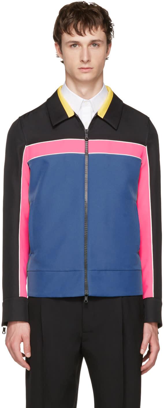 Valentino Multicolor Colorblocked Zip-up Jacket