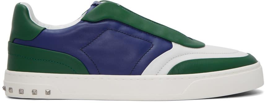 Valentino Tricolor Valentino Garavani Lace Crew Sneakers