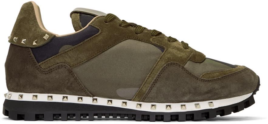 Valentino Green Valentino Garavani Camo Rockstud Sneakers