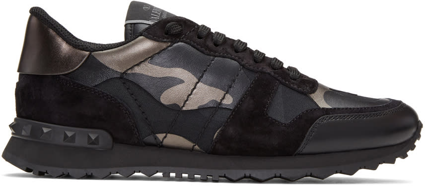 Valentino Black Camo Rockrunner Sneakers