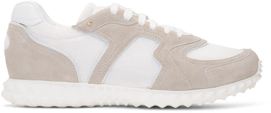 Valentino White Valentino Garavani Hive Sneakers