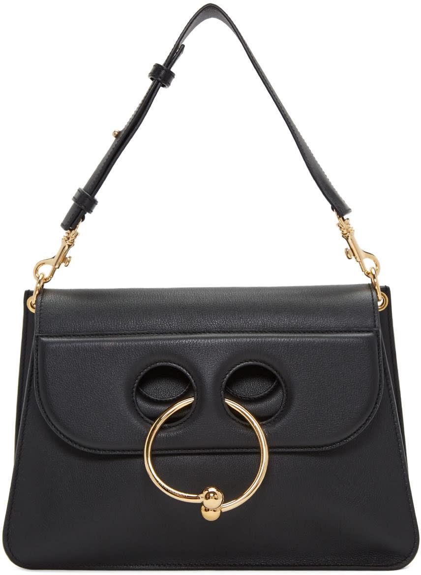 Image of J.w. Anderson Black Medium Pierce Bag