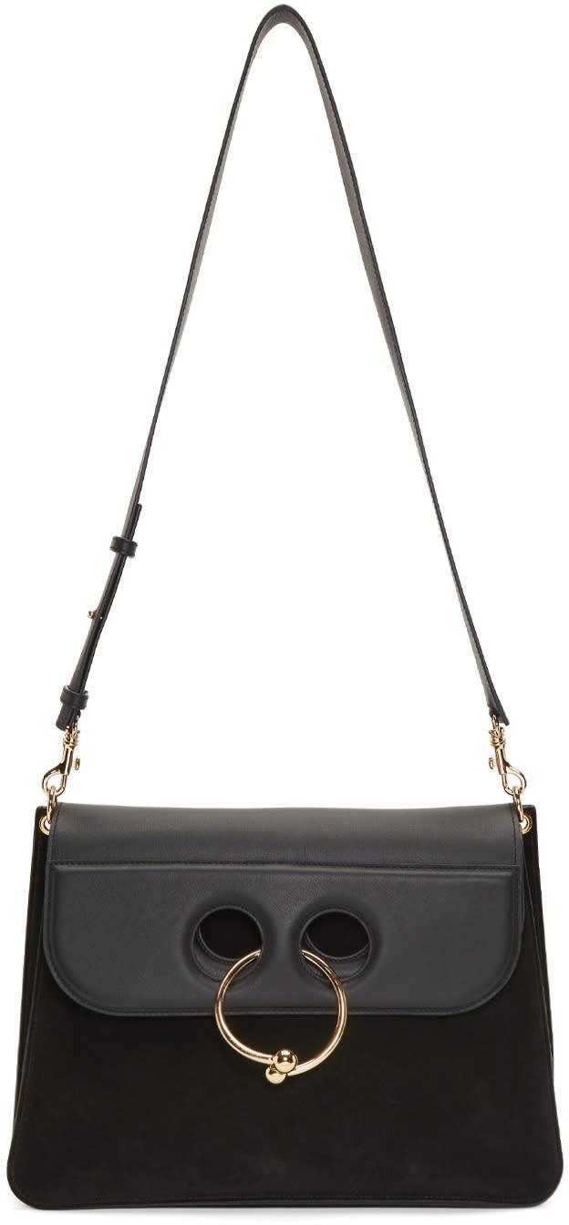 Image of J.w. Anderson Black Large Pierce Bag