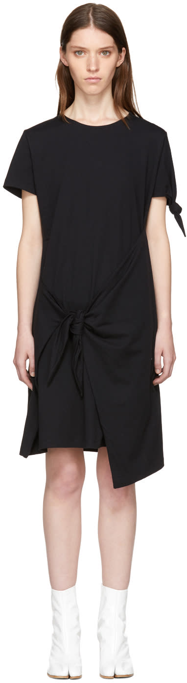 Image of Jw Anderson Black Knot T-shirt Dress
