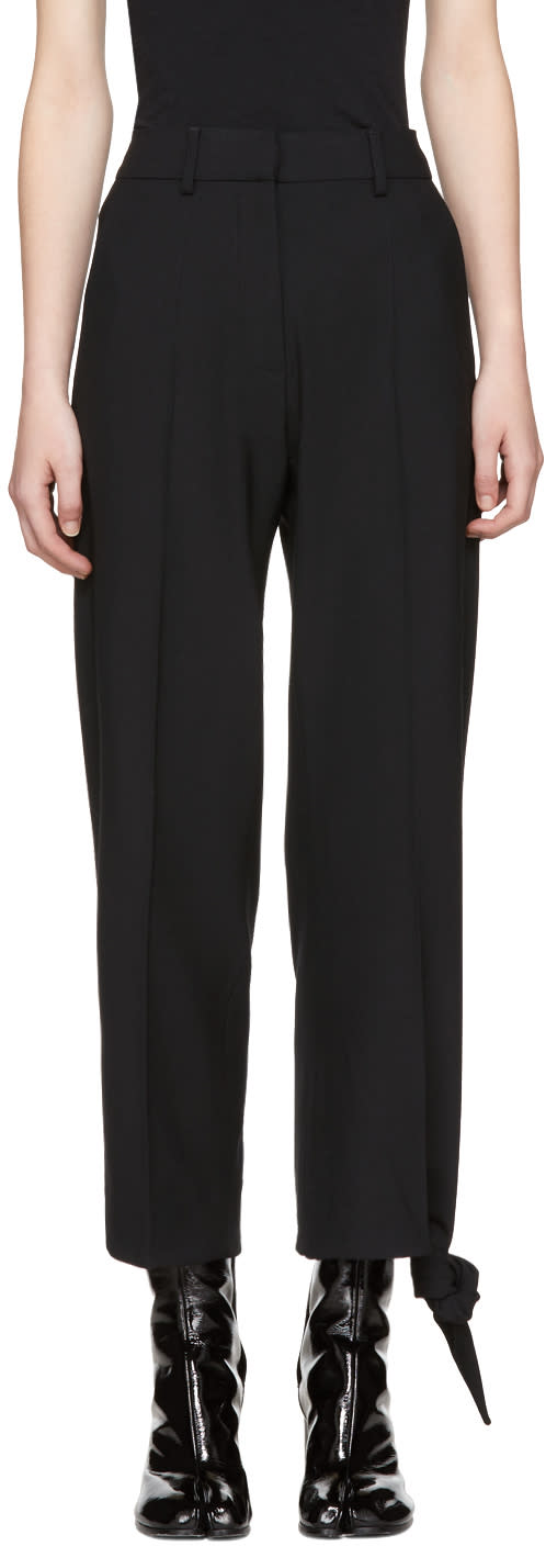 Image of Jw Anderson Black Knot Hem Trousers