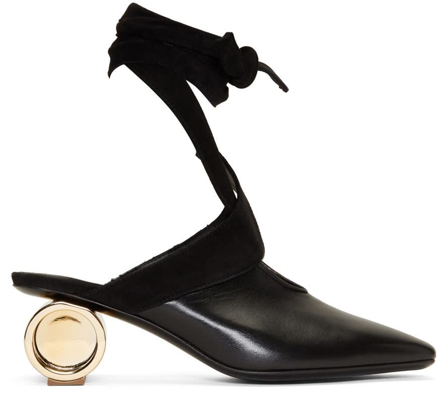 Image of J.w. Anderson Black Cylinder Ballet Heels