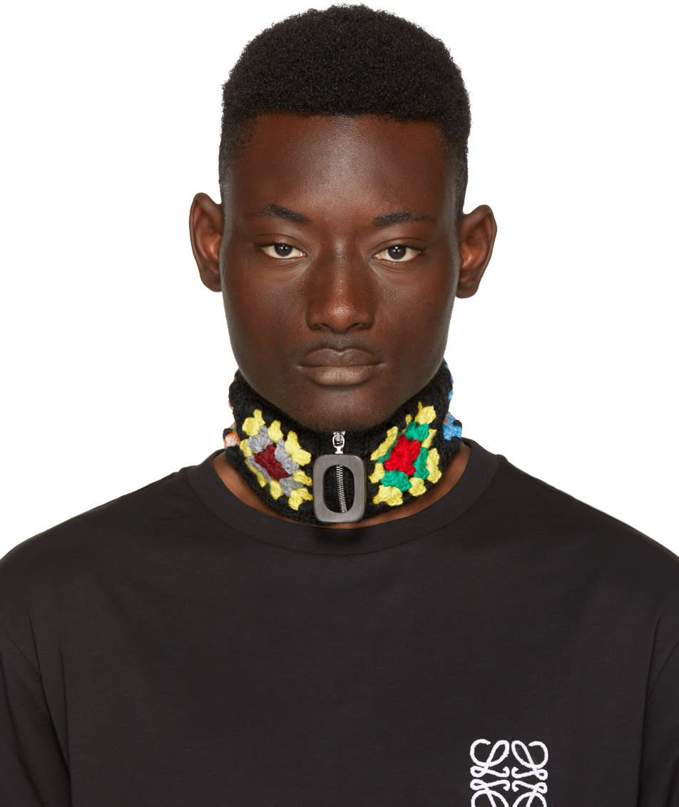 Image of J.w. Anderson Black Crochet Neckband