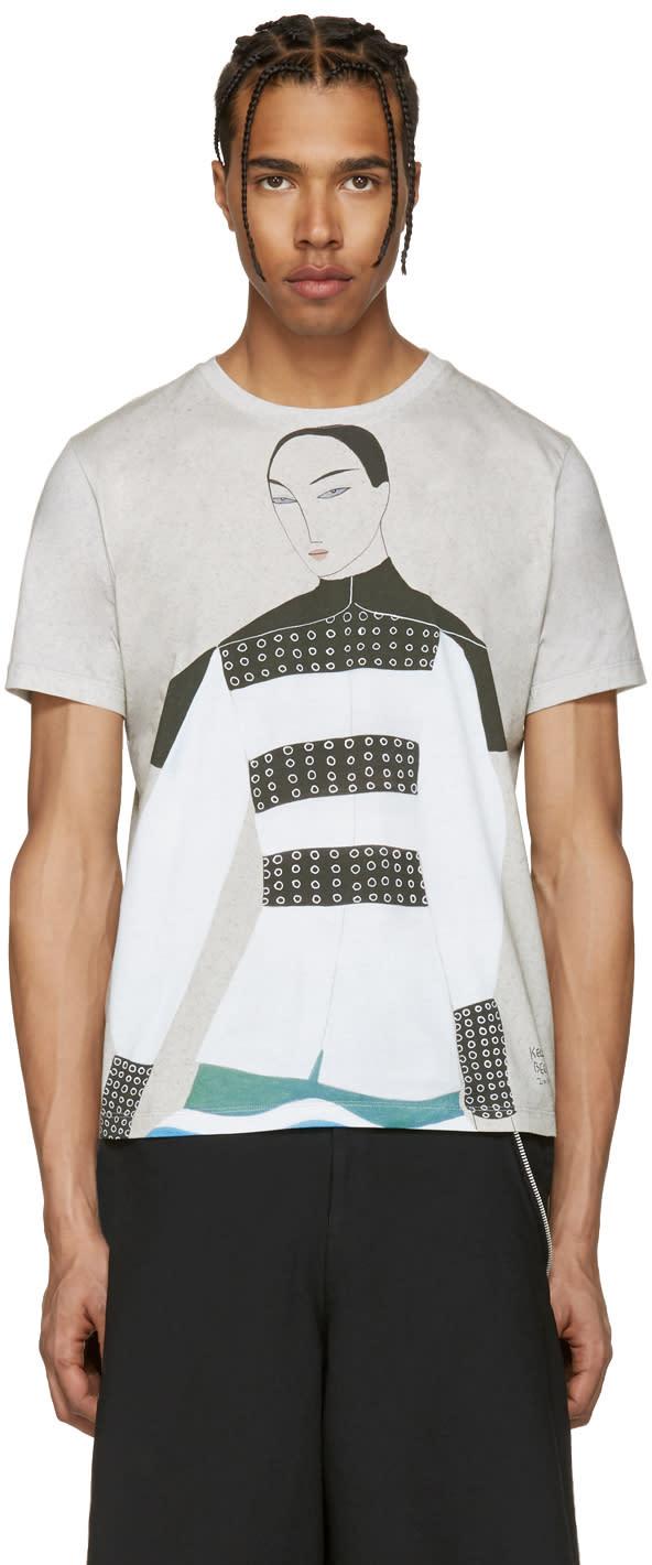 J.w. Anderson Ssense Exclusive Grey Kelly Beeman Edition Graphic T-shirt