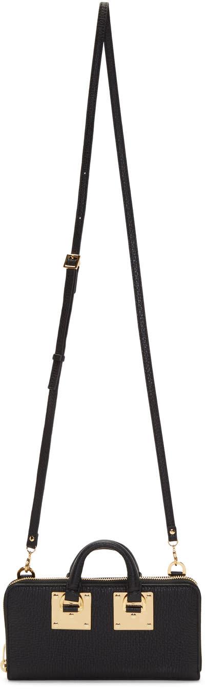 Image of Sophie Hulme Black Medium Albion Continental Wallet Bag