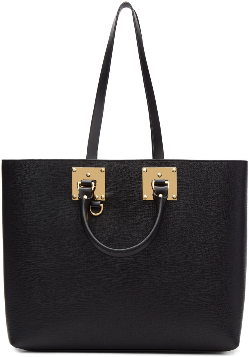 Image of Sophie Hulme Black Cromwell East West Tote