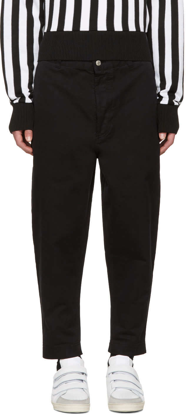 Image of Ami Alexandre Mattiussi Black Carrot Fit Worker Trousers
