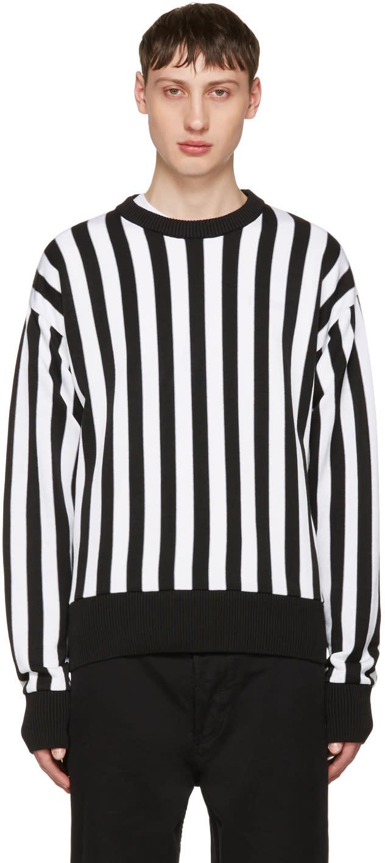 Ami Alexandre Mattiussi Black and White Striped Sweater