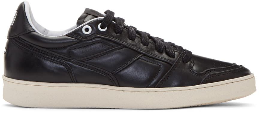 Ami Alexandre Mattiussi Black Leather Sneakers