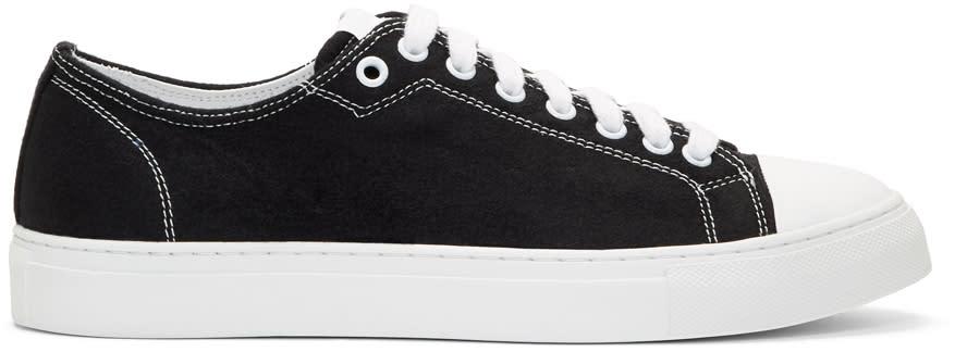 Ami Alexandre Mattiussi Black Wool Sneakers