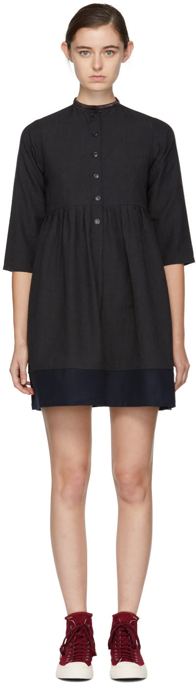 Visvim Grey Lancaster Band Collar Dress