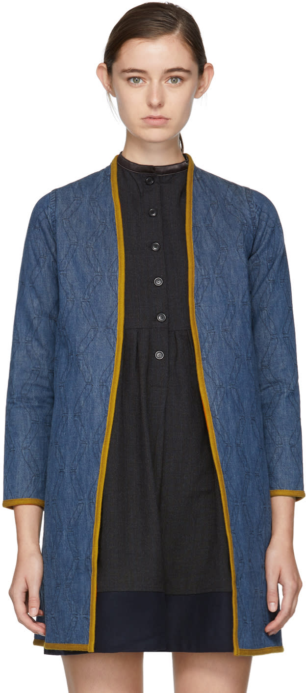 Visvim Indigo Denim Sanjuro Coat