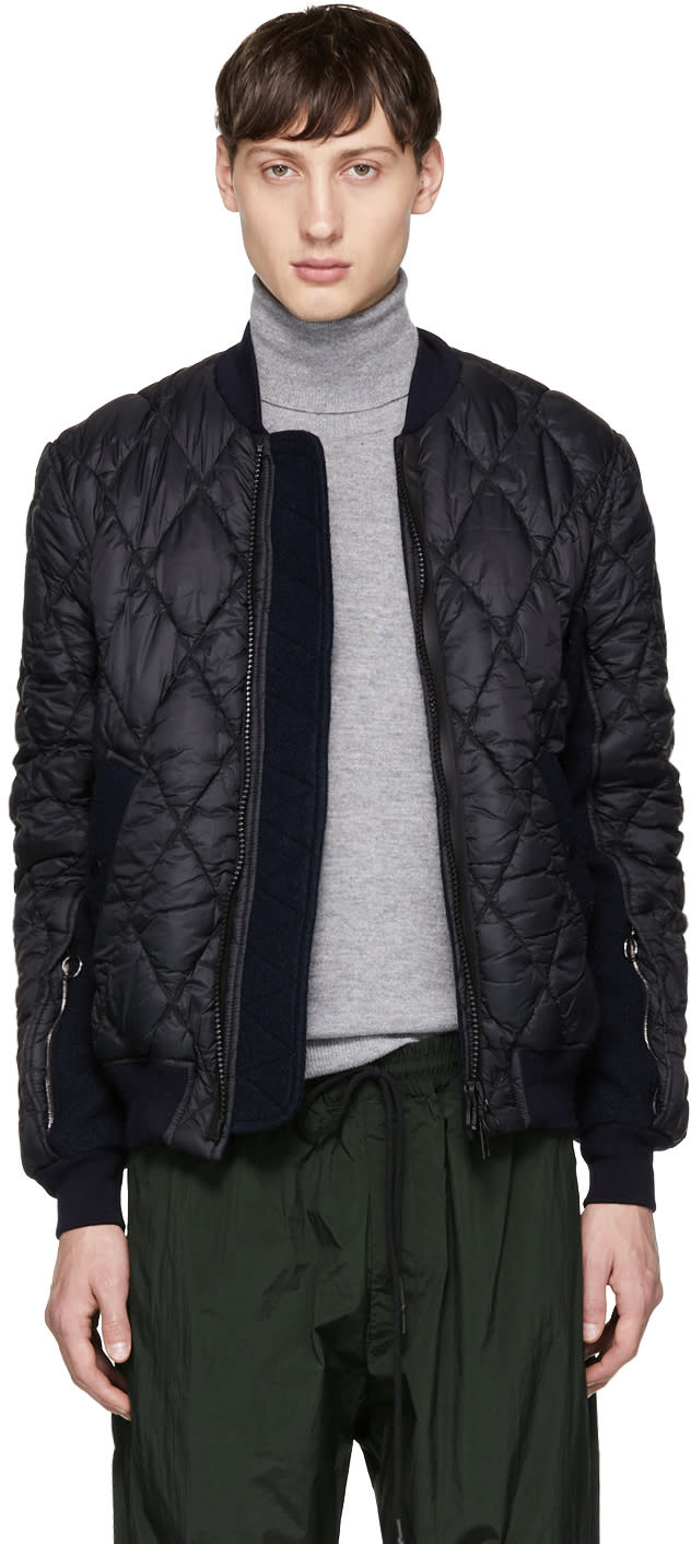 Image of Tim Coppens Black Quilted Ma-1 Bomber