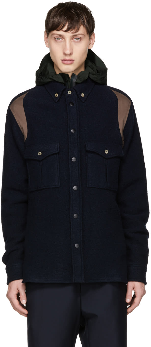 Image of Tim Coppens Navy Worker Overshirt Jacket