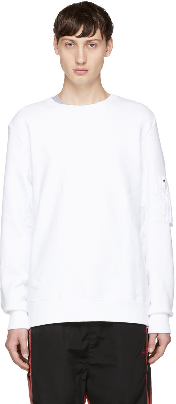 Image of Tim Coppens White Ma-1 Sweatshirt