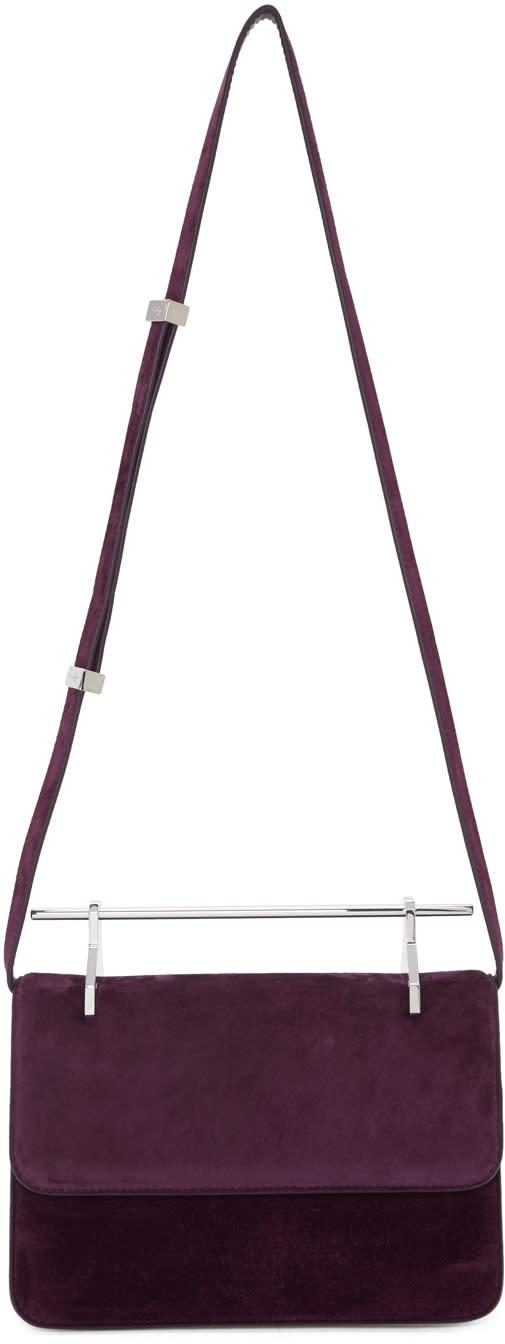 Image of M2malletier Purple Suede la Fleur Du Mal Bag