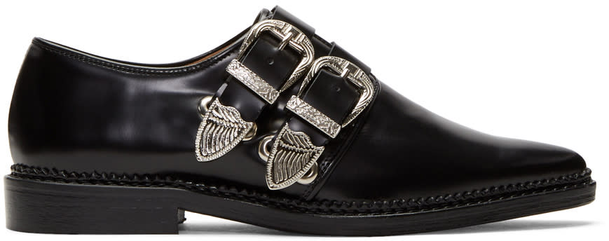 Image of Toga Pulla Black Two-buckle Western Oxfords