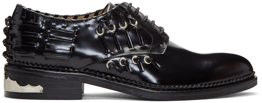 Image of Toga Pulla Black Laced All Over Oxfords