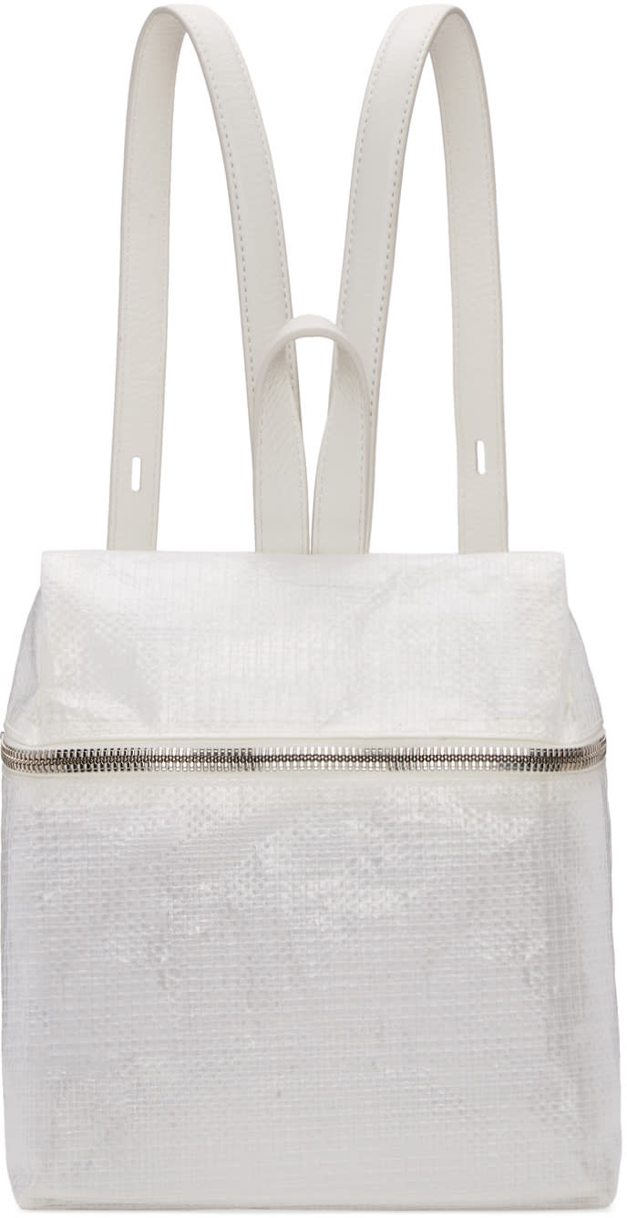 Kara White Small Tarp Backpack