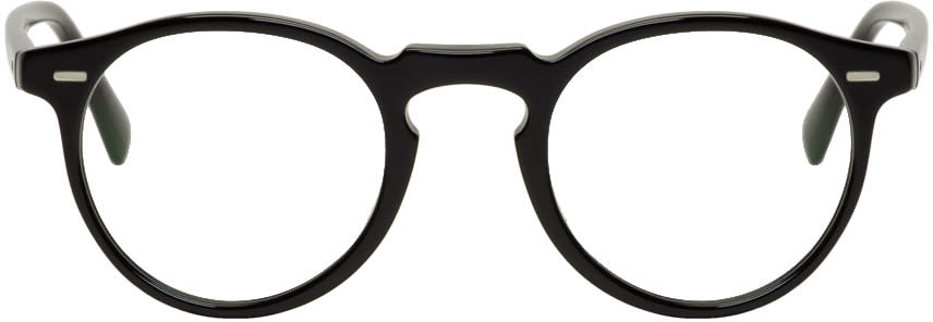 Image of Oliver Peoples Black Gregory Peck Glasses