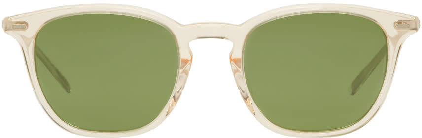 Image of Oliver Peoples Beige Heaton Sunglasses