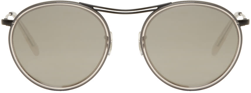 Image of Oliver Peoples Black and Grey Mp-3 30th Sunglasses