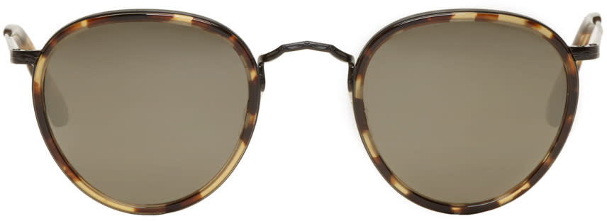 Image of Oliver Peoples Tortoiseshell Vintage Mp-2 Sunglasses