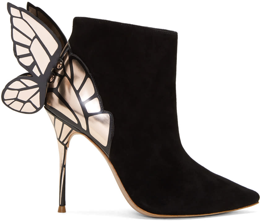 Sophia Webster Black Suede Chiara Boots
