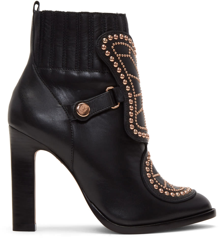Sophia Webster Black Karina Boots