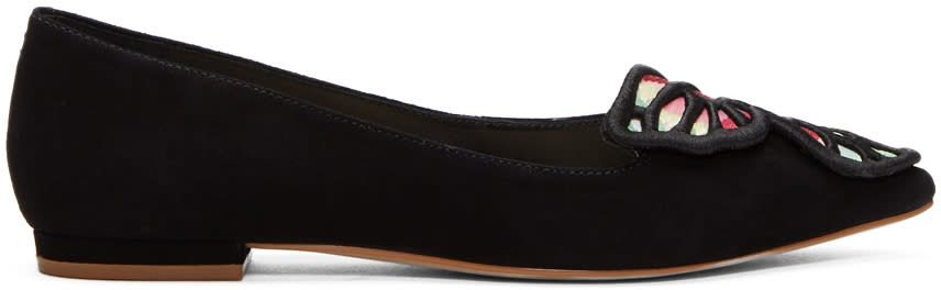 Image of Sophia Webster Black Bibi Butterfly Flats