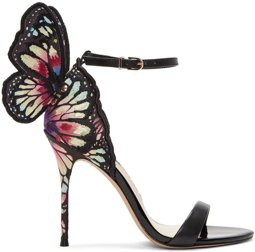 Image of Sophia Webster Black Chiara Sandals