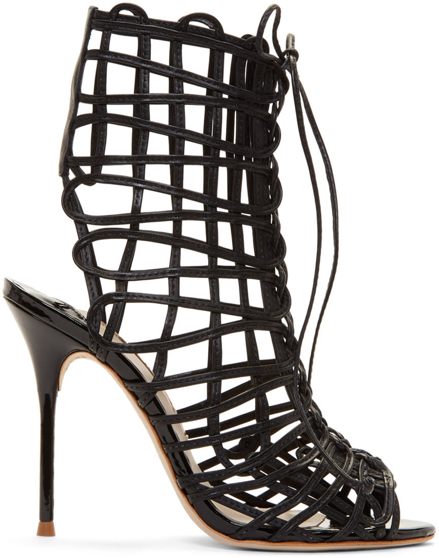 Image of Sophia Webster Black Delphine Sandals