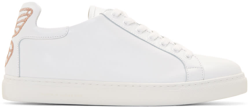 Sophia Webster White Leather Bibi Sneakers