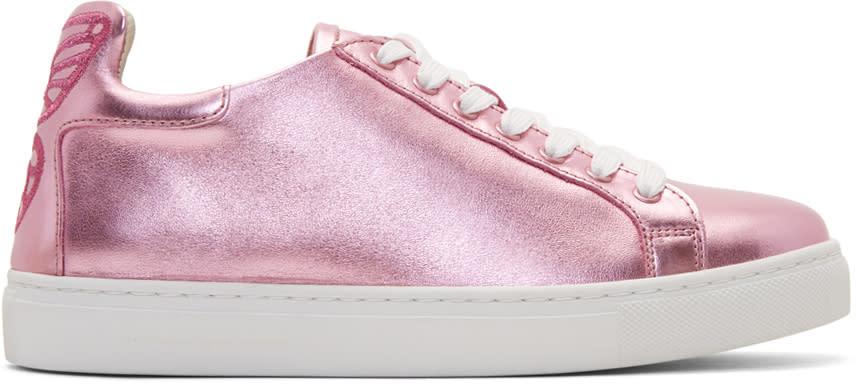 Sophia Webster Pink Metallic Bibi Butterfly Sneakers