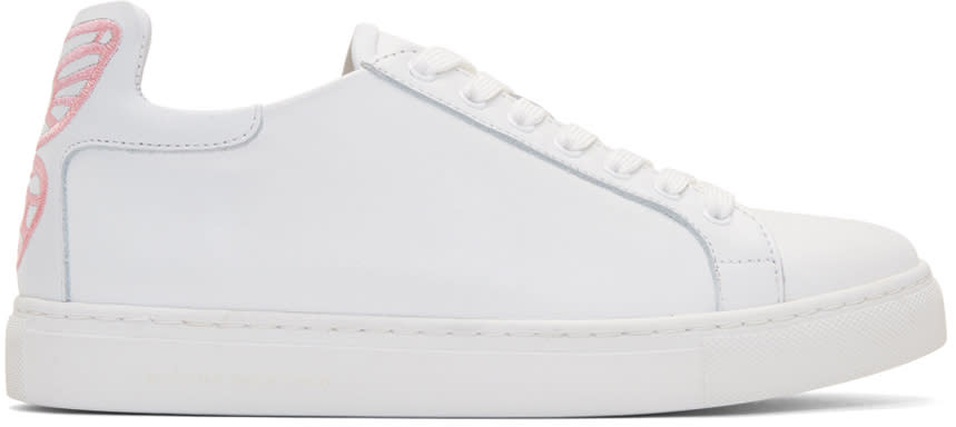 Sophia Webster White and Pink Bibi Butterfly Sneakers