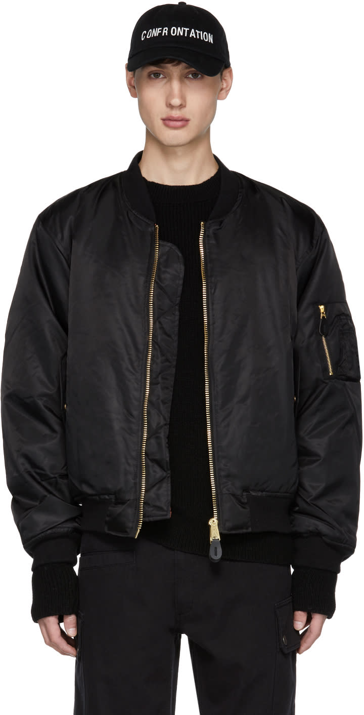 Image of Yang Li Black Ohta Bomber Jacket